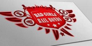 Logo Design bad girls bail bonds